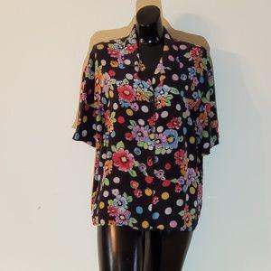 Silk Land Buttonup Shirt size L